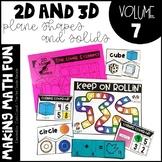 Making Math Fun Volume 7 - 2D & 3D Plane Shapes & Solids