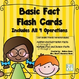 Math Fact Flash Cards- All Four Operations