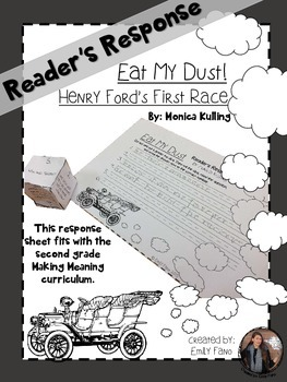 Making Meaning 2nd Grade: Eat My Dust: Reading Life with Response Sheet