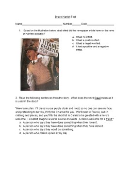 Making Meaning 3rd Grade Unit 5: Wondering/Questioning Biographies Tests