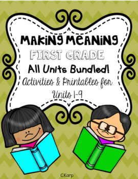 Making Meaning ALL UNITS BUNDLED!!!!