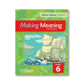 Making Meaning, Becoming a Reader Unit 8