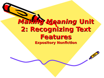 Making Meaning (Third Edition) - Grade 4 - Unit 2