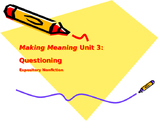 Making Meaning (Third Edition) - Grade 4 - Unit 3