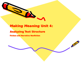 Making Meaning (Third Edition) - Grade 4 - Unit 4