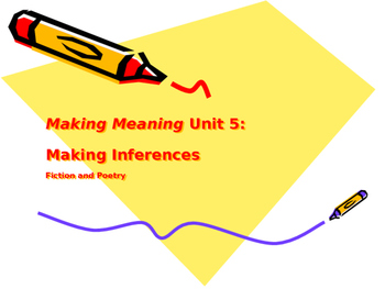 Making Meaning (Third Edition) - Grade 4 - Unit 5
