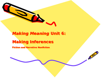 Making Meaning (Third Edition) - Grade 4 - Unit 6, Weeks 3&4