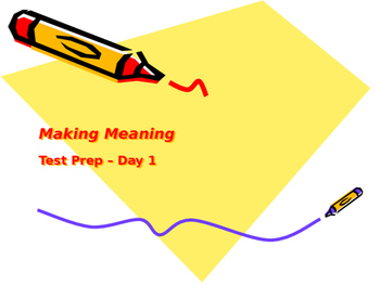 Making Meaning (Third Edition) - Grade 4 - Test Prep
