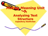 Making Meaning (Third Edition) - Grade 4 - Unit 7, Weeks 1&2