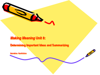 Making Meaning (Third Edition) - Grade 4 - Unit 8