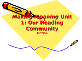Making Meaning (Third Edition) - Grade 4 - Unit 1