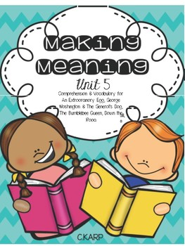 Making Meaning Unit 5 First Grade