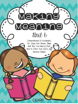 Making Meaning Unit 6 First Grade