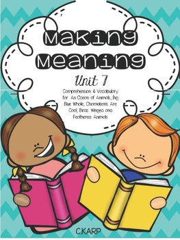 Making Meaning Unit 7 First Grade