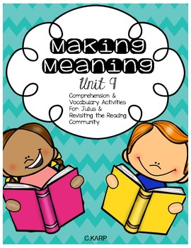 Making Meaning Unit 9 First Grade