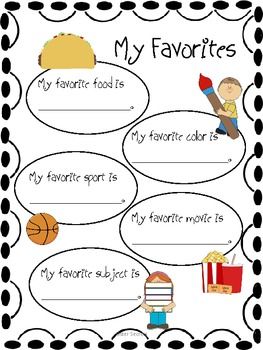 Making Memories:  An End of the Year Activity