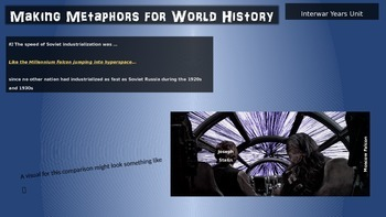 Making Metaphors for World History (UNIT 4) Imperialism/Colonies- PPT & Handouts