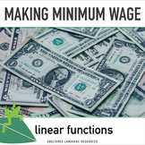 Making Minimum Wage Week-Long Math Lesson Plans Focused on
