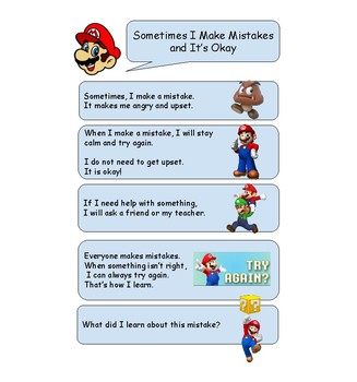 Making Mistakes (Mario) Social Story