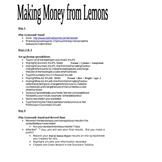 Making Money From Lemons Microsoft Excel Project (older version of MS Excel)