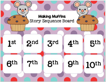 Making Muffins with Ordinal Numbers (Mouse Math Pack)