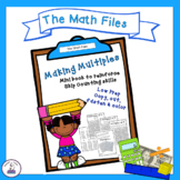 Making Multiples - Skip Counting Mini Book for Multiplication