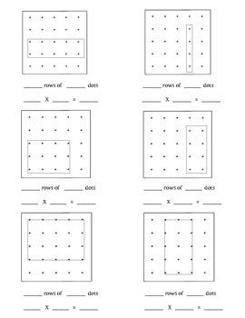 Making Multiplication Arrays using Geobards