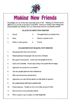 Making New Friends Lesson