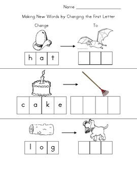 Making New Words by Changing the First Letter