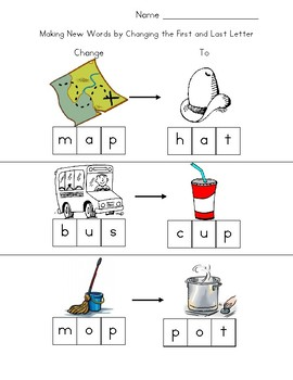 Making New Words by Changing the First and Last Letter