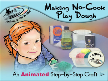 Making No-Cook Play Dough - Animated Step-by-Step Craft - Regular