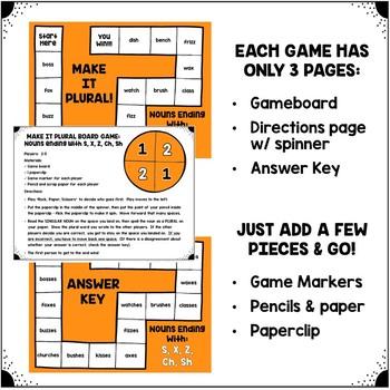 Making Nouns Plural: Board Games
