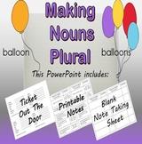 Making Nouns Plural PowerPoint Presentation