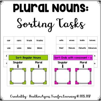 Making Nouns Plural: Sorting Activities