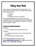 Making Nouns Plural Worksheet Packet