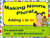 Making Nouns Plural adding s or es PowerPoint and Printables