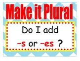 Making Nouns Plural flow Chart