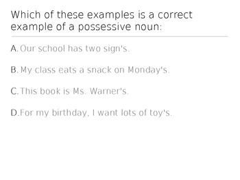 Making Nouns Possessive