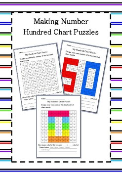 Making Number - Hundred Chart Puzzles