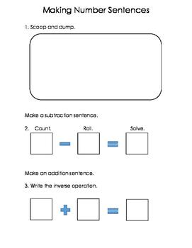 Making Number Sentences Work-mat