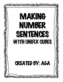 Making Number Sentences with Unifix Cubes
