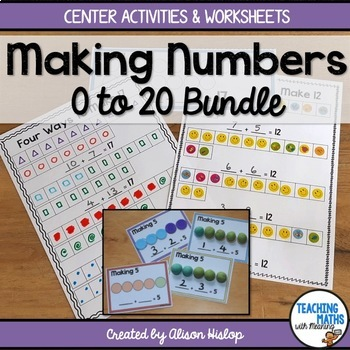 Making Numbers 0 to 20 Bundle