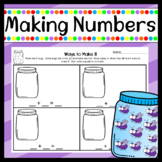 Making Numbers 1-10 Mats or Worksheets!
