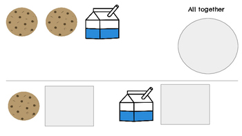 Making Numbers 1-10 Milk & Cookies-Beginning Addition Practice