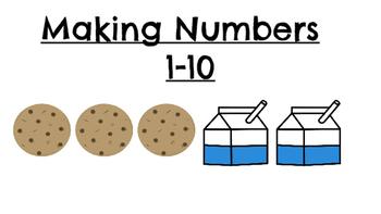 Making Numbers 1-10 Milk & Cookies-Beginning Addition Practice
