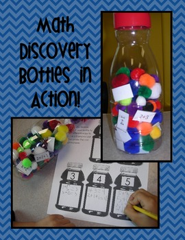 Making Numbers 1-5 Math Discovery Bottles (Kindergarten Common Core Aligned)