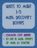 Making Numbers 1-5 Math Discovery Bottles (Kindergarten Co