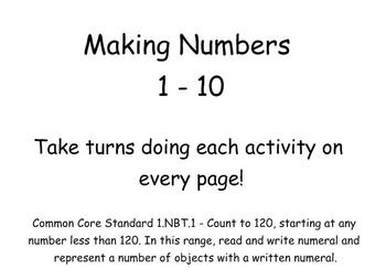 Making Numbers 1 to 10