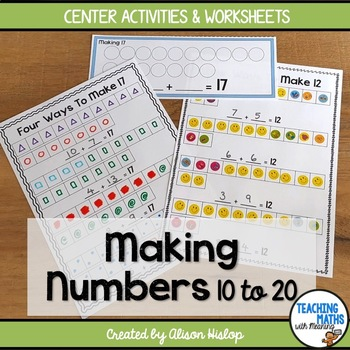 Making Numbers 10 to 20: Beginning Addition
