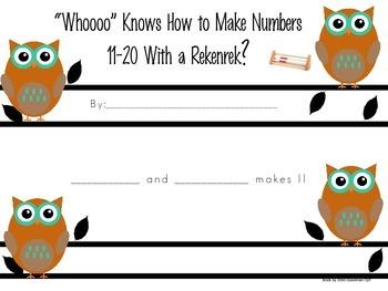 Making  Numbers 11-20 with A Rekenrek-Student Booklet